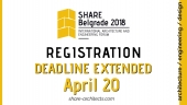 Registration Deadline Extended - 20. April 2018